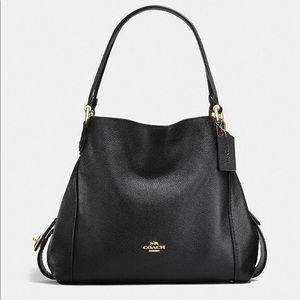 Coach Edie Shoulder Bag in Black